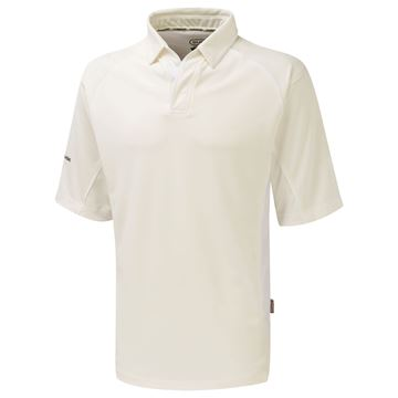 Picture of Premier Ivory Cricket Shirt - 3/4 Sleeve - White Trim