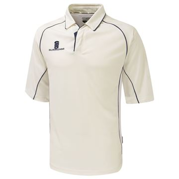 Picture of Premier Ivory Cricket Shirt - 3/4 Sleeve - Navy Trim