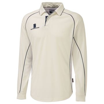 Picture of Premier Ivory Long Sleeve Shirt - Navy Trim