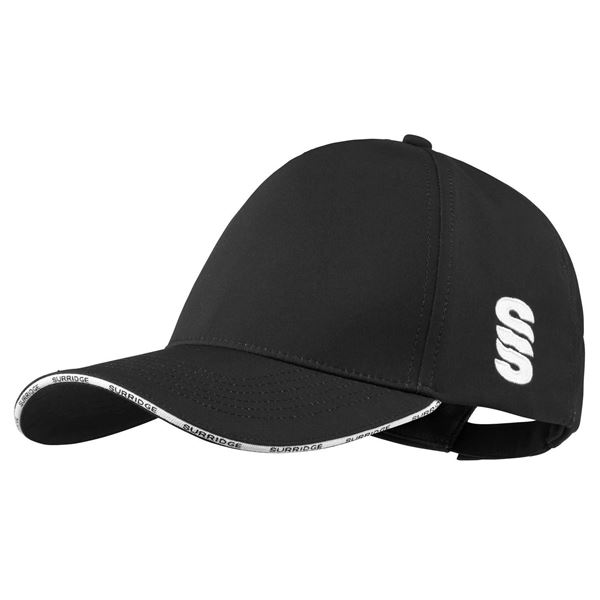 Picture of Microfibre 5 Panel Baseball Style Cap - Black