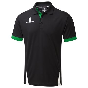 Picture of Blade Polo Shirt : BLACK / EMERALD / WHITE