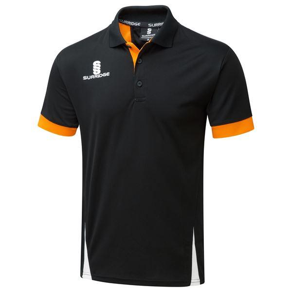 Picture of Blade Polo Shirt : BLACK / ORANGE / WHITE