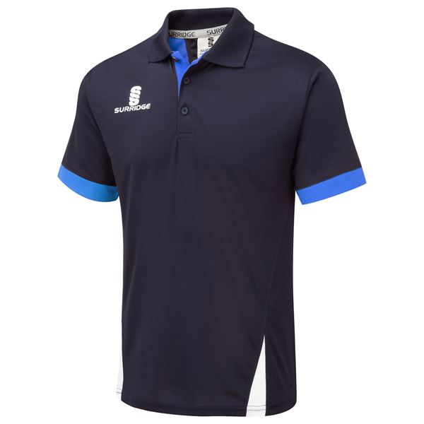 Picture of Blade Polo Shirt :  NAVY / ROYAL / WHITE