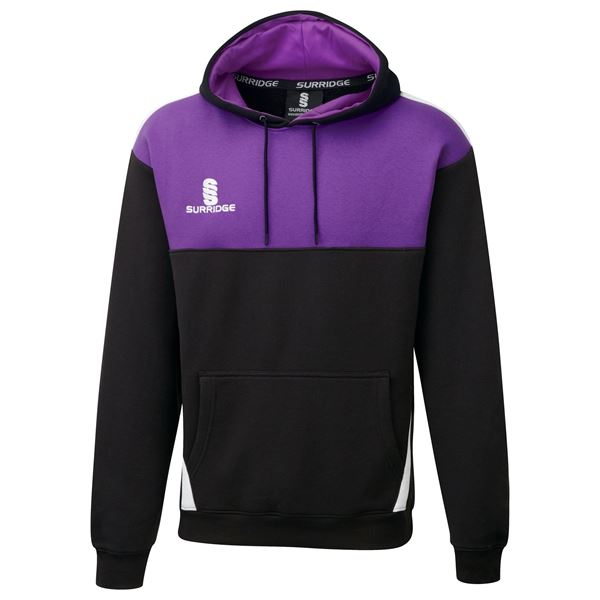Picture of Blade Hoody : BLACK / PURPLE / WHITE