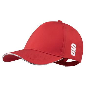 Picture of Microfibre 5 Panel Baseball Style Cap - RED