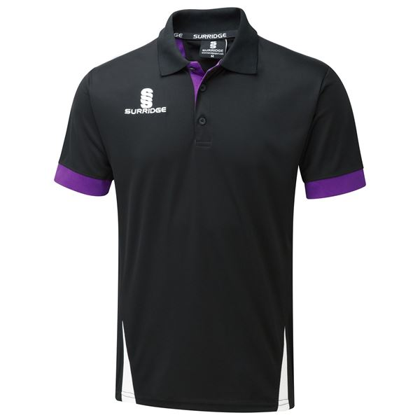 Picture of Blade Polo Shirt : BLACK /PURPLE / WHITE